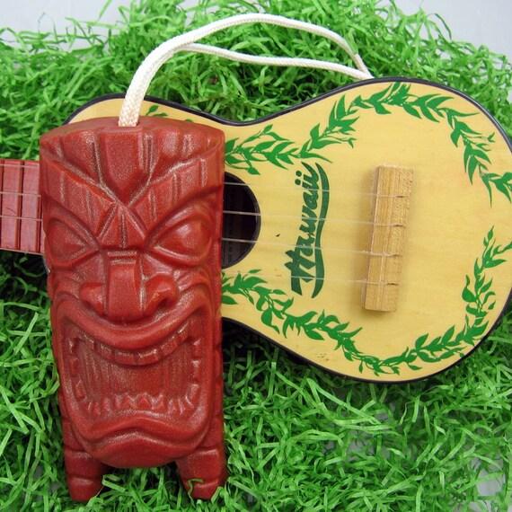 Squeaky TIKI - Tiki God SOAP on a Rope - COCONUT Scent  - Vegan