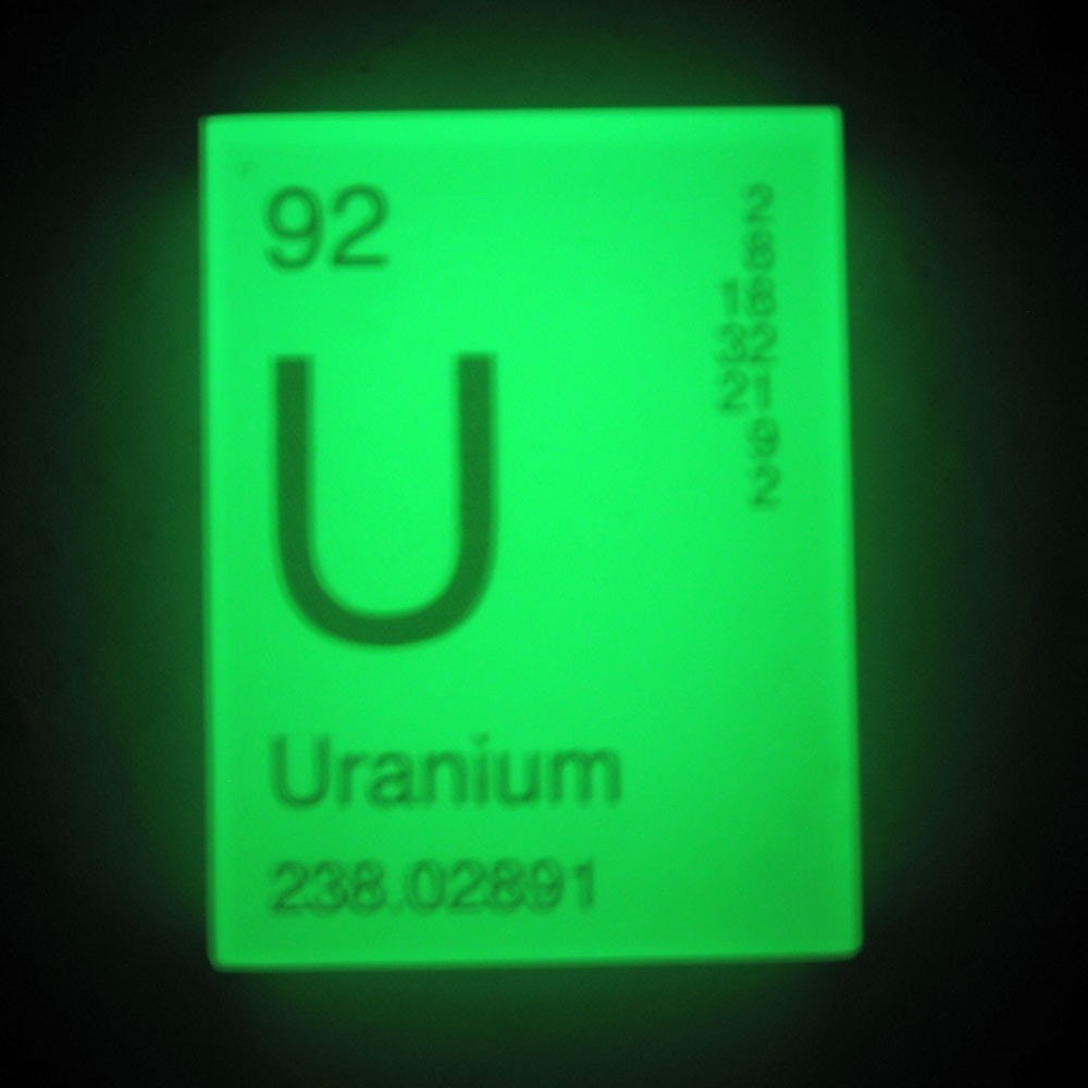 In your element periodic table soap uranium glows in the details the periodic table gamestrikefo Image collections