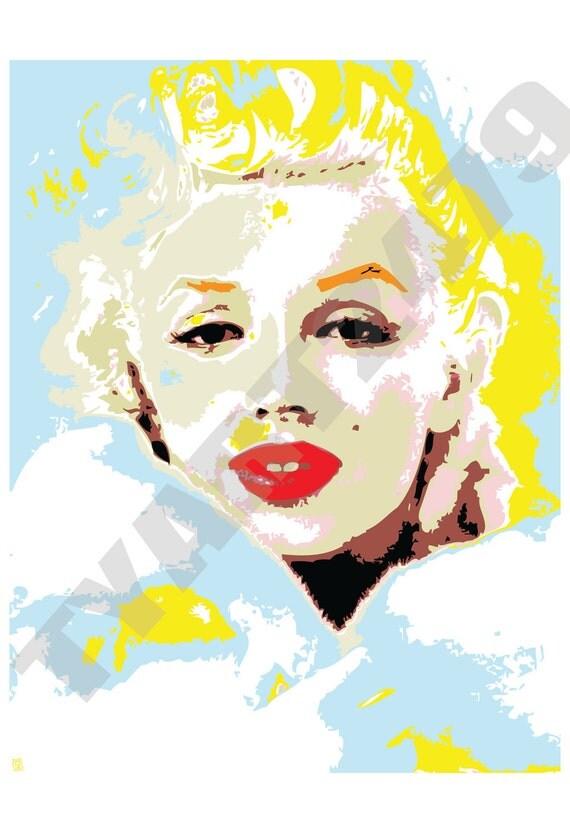 Wall Art Home Decor Marilyn Monroe Pop Art Print