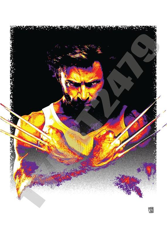 Wall Art Home Decor Marvel Comics X Men The Wolverine Pop Art