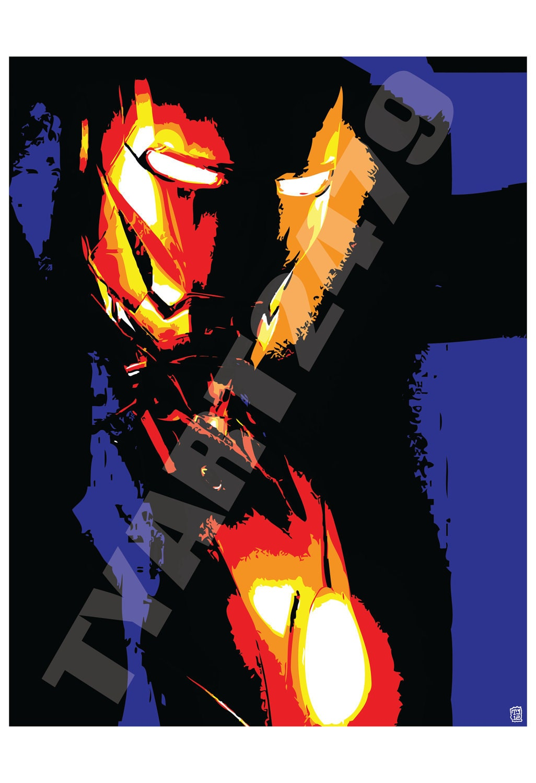 Wall art home decor marvel comics iron man of the avengers pop - Marvel comics decor ...