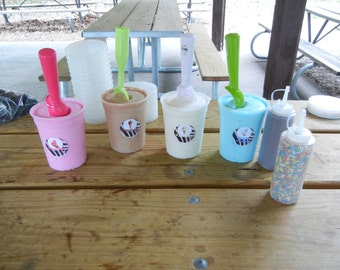 Create your own Ice Cream Float Sugar Scrub Station  for a Spa Birthday Party