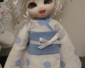 Bubbly Blue Polka Dot Kimono for Pukipuki