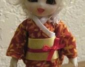 Firey blossom kimono for pukipuki