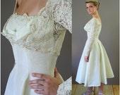 RESERVED for Savanh 1950s Sally Milgrim Wedding Dress