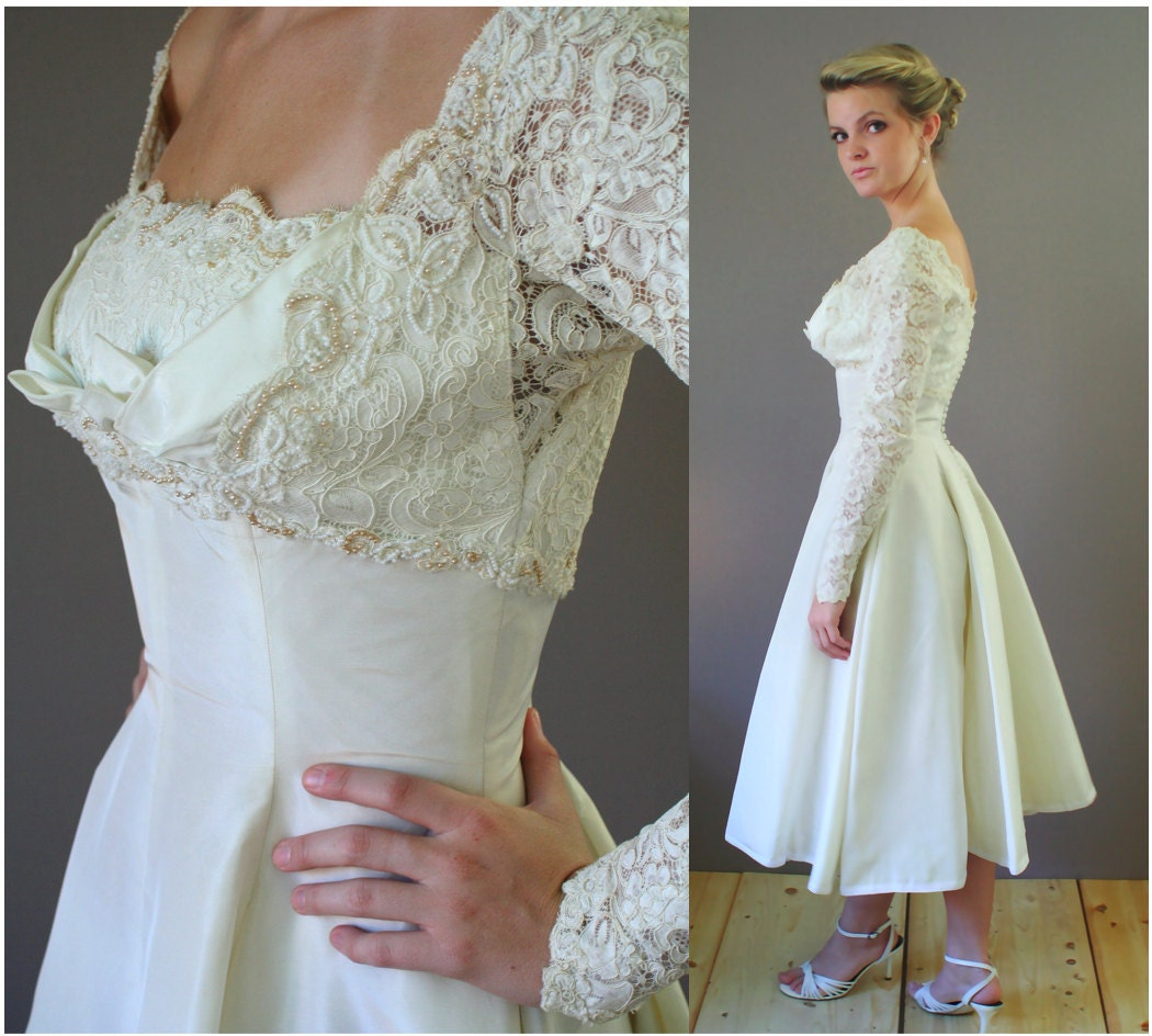 Vintage Wedding Dresses Nyc: RESERVED For Savanh 1950s Sally Milgrim Wedding Dress
