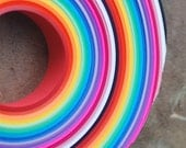 300 sheets of star paper UBER RAINBOW COLORS - 3/4 inch wide