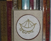Card with Letterpress Popup - Early Christian Symbol - Boat - Description of symbol is on the back