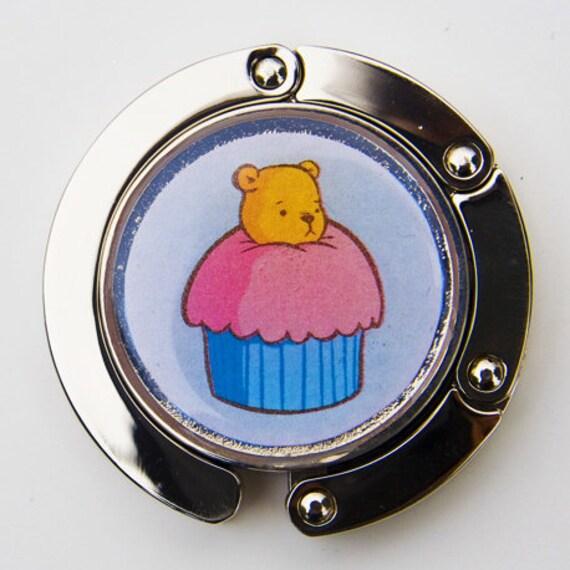 Purse Hook - Bear in a Cupcake