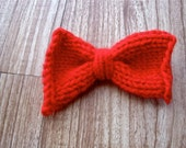 Red Knit Bow