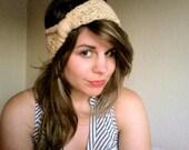 Crochet Headband in Natural Beige