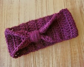 Crochet Headband in Burgundy