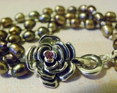 Rose in Pearls Bracelet