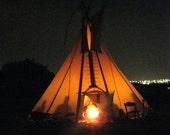 Teepee - Original Fine Art Photography, Native American, Indians, Fire, Nature, Ceremony