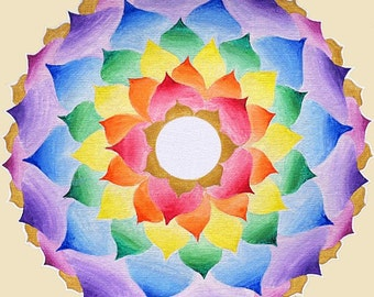 Lotus mandala -Fine Art Signed Print