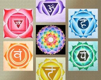 Yoga Seven Chakra Mandala - Mandalamagic1 Original Mandala Art - Meditation Art- Spiritual Art - Inspirational Art - Healing Art - Reiki Ar