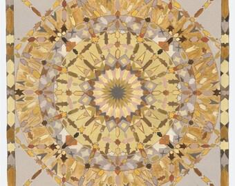 The Earth Element Mandala - Mandalamagic1 Original Mandala Art - Moroccan Art - Chakra Art  - Buddhism Art - Peaceful Art