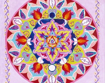 Cycles Of Life Mandala - Mandalamagic1 Original Mandala Art - Chakra Art - Chakra Mandalas - Buddhism Art - New Home Gift