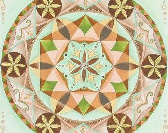 Healing Mandala - Fine Art Signed Print - Mandalamagic1 Original Mandala Art - Canvas Art - Moroccan Art - Goemetric Art