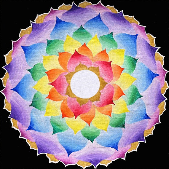 The Crown Chakra Lotus Mandala Fine Art Signed by ...