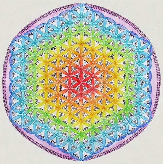 The Flower Of Life Mandala - Mandalamagic1 Original Mandala Art - Peaceful Art - New Home Gift - Buddhism Art