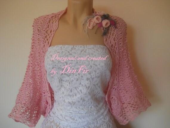 Oversize,  COTTON,  BOLERO,  SHRUG, Detachable Flowers, Jacket, Elegant, Cardigan, Romantic, Vest, Feminine, Autumn, Summer