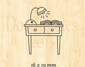 Study table rubber stamp