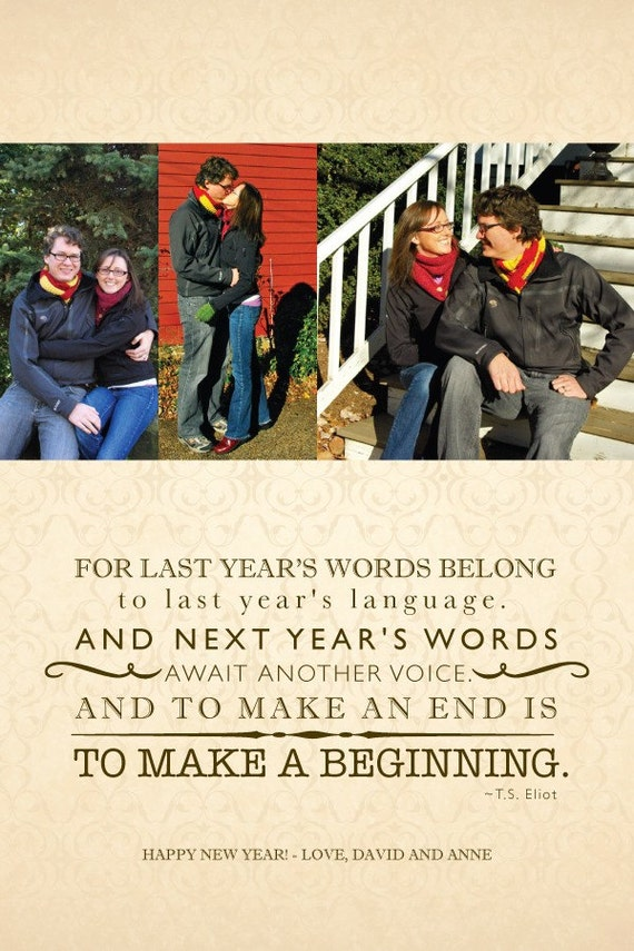 Custom New Years Photo Card - Make a Beginning