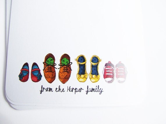 Customized Family Illustrated Note Cards for Aisling2011
