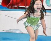 8 x 10 Fine Art Print - Keana and the Red Slide