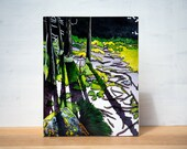 "SALE Gone Camping series - 'Tower Trail' Large Artblock,  8"" x 10"""