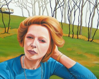 Fine Art Giclee Print - 'Goretta on a Hill'