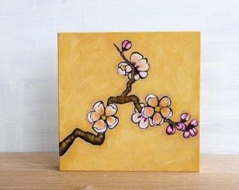 Sale - Cherry Blossoms Original Painting by Mara Minuzzo