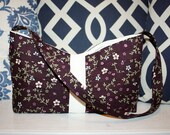 Spence Shoulder Bag-Small (Deep purple floral with pleating detail)