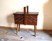 Vintage - Large Sewing Box/Jewelry Table