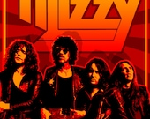 Thin Lizzy 1976 Tour Poster