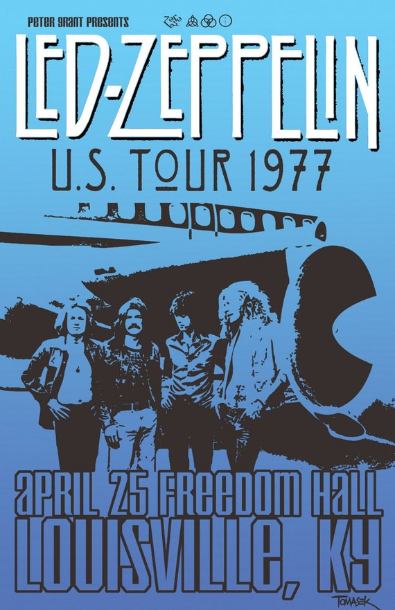 Led Zeppelin 1977 Tour Poster