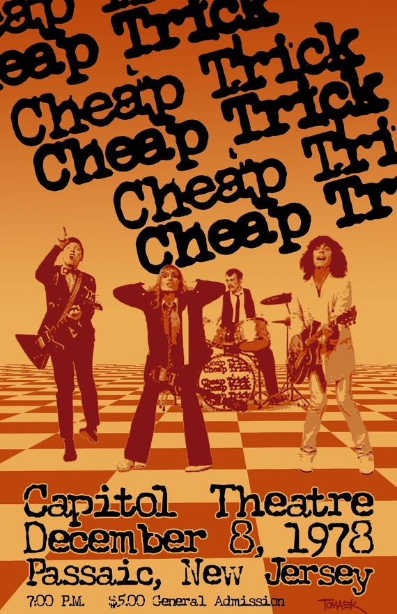 Items similar to cheap trick 1978 tour poster on etsy for Cheap prints and posters