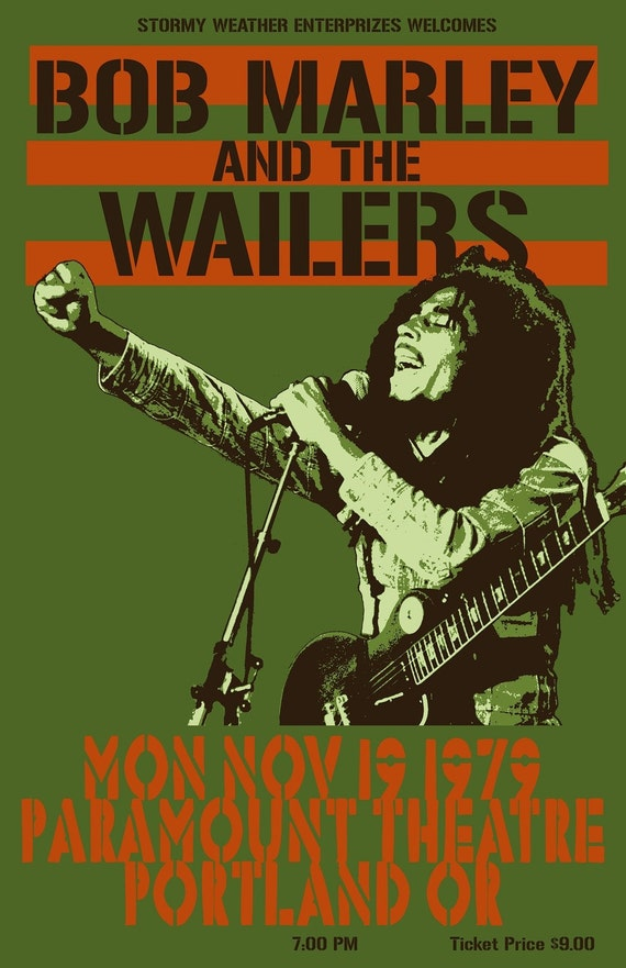 Bob Marley 1979 Tour Poster