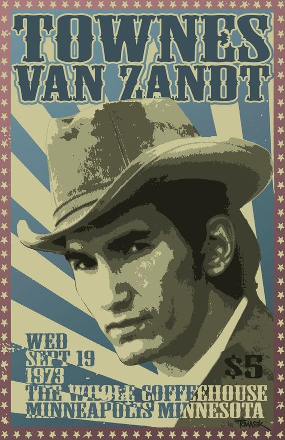 Townes Van Zandt 1973 Tour Poster