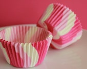 Pink Swirl Cupcake Liners - Set of 24