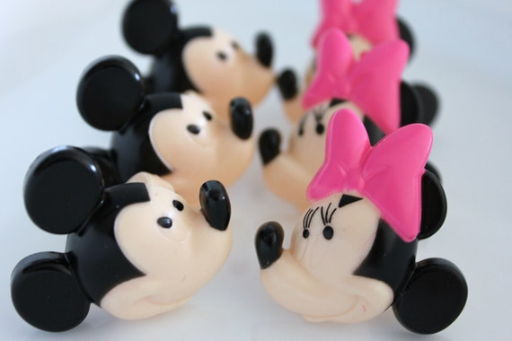 12 Mickey & Minnie Mouse Cupcake Topper Rings