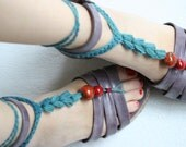 Crochet Barefoot Sandals, Nude shoes, Foot jewelry,Wedding, Beach sandals, Belly dance, Steam punk, Yoga, Anklet