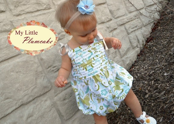 """Easy Baby Girl Sewing Pattern - The """"Bryn"""" Romper"""