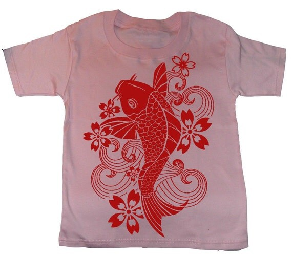 Koi Fish Tshirt Onesie Or Pillow For Baby Child By