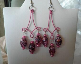Sale Speckled Fuchsia Earrings