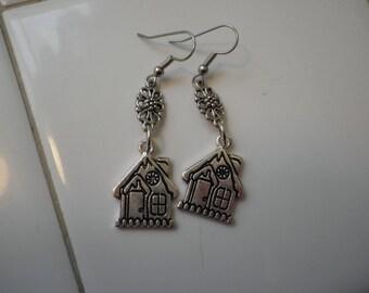 Ginger Bread House Earrings