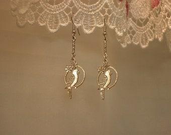 Bird Swinging Earrings
