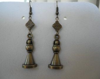 Queen Chess Piece Earrings