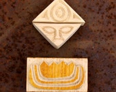 Carved Textile Stamps, African Design Set, Oshiwa Wood Printing Blocks, Item Set 5